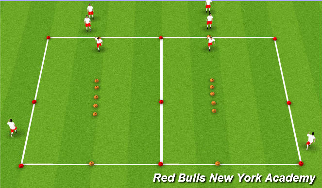 Football/Soccer Session Plan Drill (Colour): Juggling & SAQ