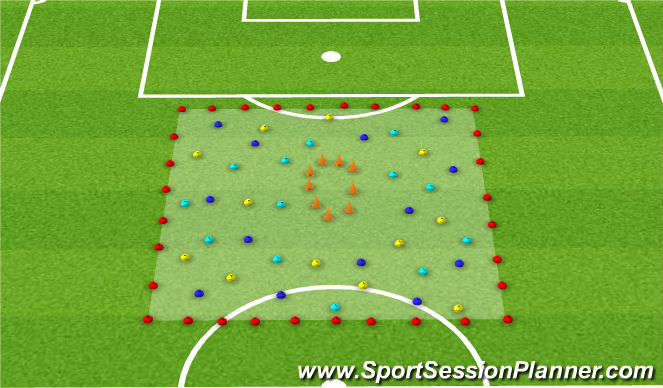 Football/Soccer Session Plan Drill (Colour): The Bees Game