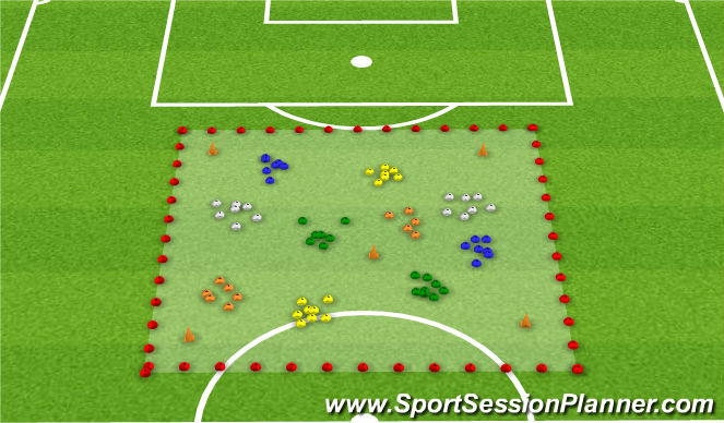 Football/Soccer Session Plan Drill (Colour): Messy Monkies