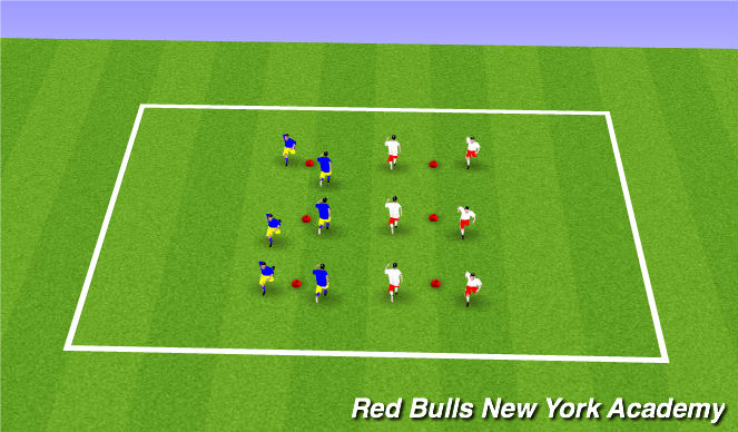 Football/Soccer Session Plan Drill (Colour): Dynamic Movement