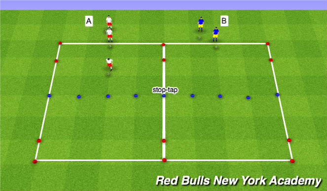 Football/Soccer Session Plan Drill (Colour): Technical Reptition