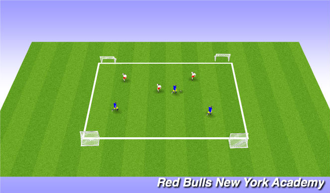 Football/Soccer Session Plan Drill (Colour): Conditioned Game / Free Play