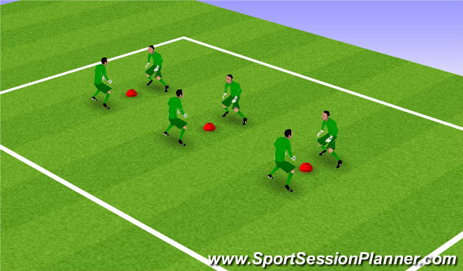 Football/Soccer Session Plan Drill (Colour): GK Reaction Drill