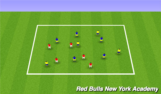 Football/Soccer Session Plan Drill (Colour): Passing Box