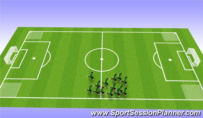 Football/Soccer Session Plan Drill (Colour): Social Warmup