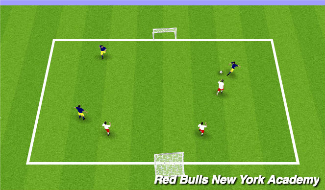 Football/Soccer Session Plan Drill (Colour): 3v3 Free Play-World Cup Tournament
