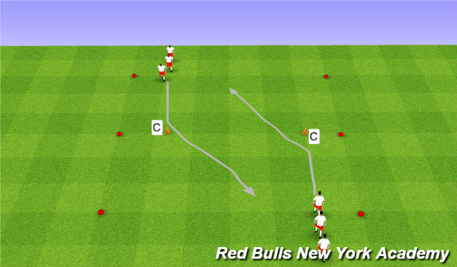 Football/Soccer Session Plan Drill (Colour): Maradona semi opposed
