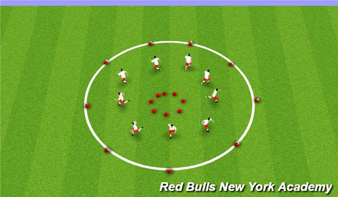 Football/Soccer Session Plan Drill (Colour): Warm up Motor Skills