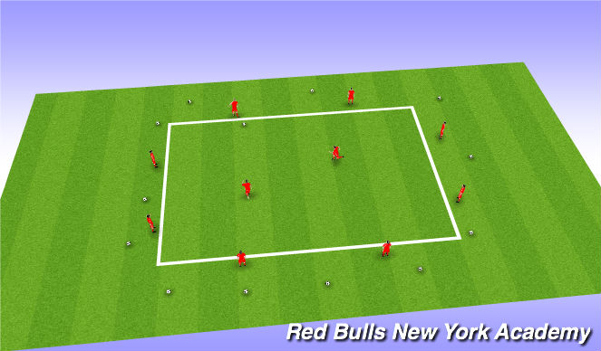 Football/Soccer Session Plan Drill (Colour): Rondos