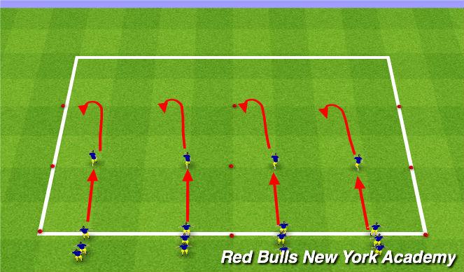 Football/Soccer Session Plan Drill (Colour): SAQ/Dynamic Warmup