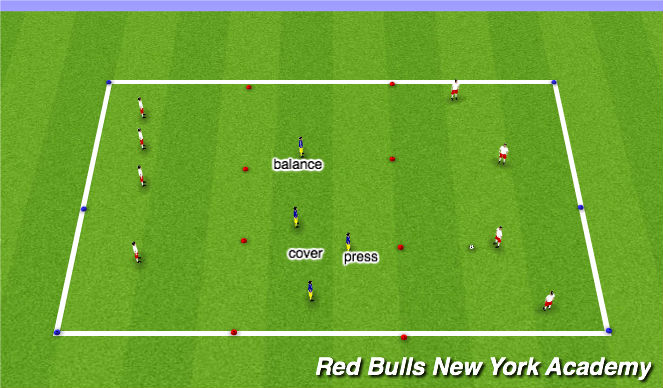 Football/Soccer Session Plan Drill (Colour): Warmp up