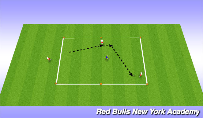 Football/Soccer Session Plan Drill (Colour): Passing and Receiving (Technical Development)