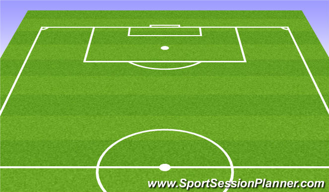Football/Soccer Session Plan Drill (Colour): Passing in 4's