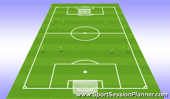 Football/Soccer Session Plan Drill (Colour): 10v10 with wide gates