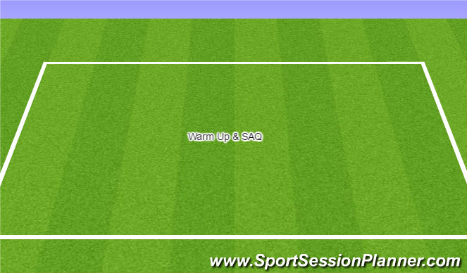 Football/Soccer Session Plan Drill (Colour): Warm Up & SAQ
