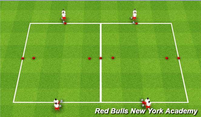 Football/Soccer Session Plan Drill (Colour): Messi/Ronaldo w/Ball