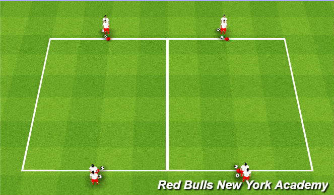 Football/Soccer Session Plan Drill (Colour): 1v1 w/ ednzones