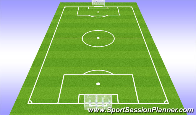 Football/Soccer Session Plan Drill (Colour): 11v11 2-for-1 Set Pieces