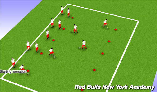 Football/Soccer Session Plan Drill (Colour): Races!