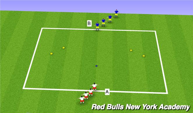 Football/Soccer Session Plan Drill (Colour): SAQ Race