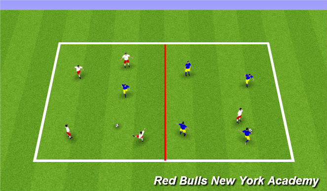 Football/Soccer Session Plan Drill (Colour): Conditioned Gane