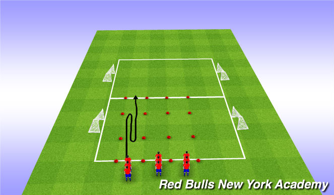 Football/Soccer Session Plan Drill (Colour): Inside Cut
