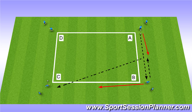 Football/Soccer Session Plan Drill (Colour): Ajax A