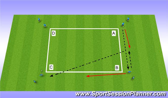 Football/Soccer Session Plan Drill (Colour): Ajax A