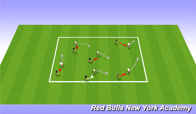 Football/Soccer Session Plan Drill (Colour): Shadow Tag