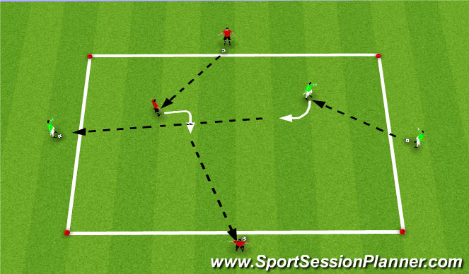 Football/Soccer Session Plan Drill (Colour): Expanded semi opposed