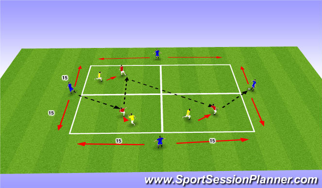 Football/Soccer Session Plan Drill (Colour): Target to Target Combination Play