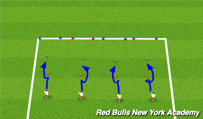 Football/Soccer Session Plan Drill (Colour): motor skill