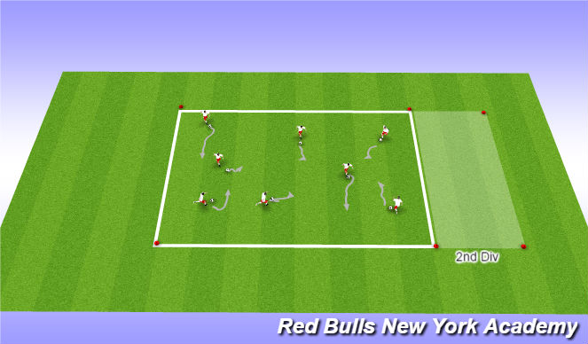 Football/Soccer Session Plan Drill (Colour): Small Sided 1 - Knock Out