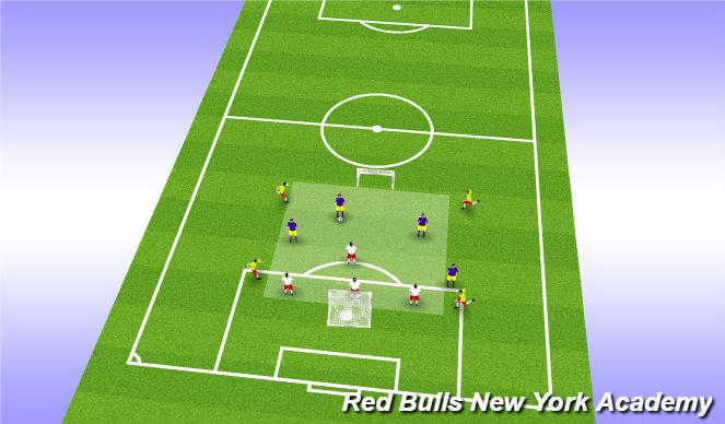 Football/Soccer Session Plan Drill (Colour): 4v4 Tournament