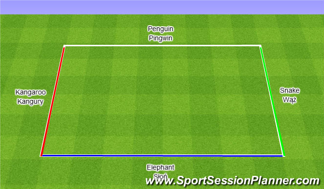 Football/Soccer Session Plan Drill (Colour): Zoo