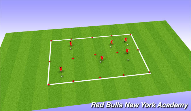 Football/Soccer Session Plan Drill (Colour): Ball Mastery Open
