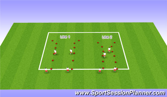 Football/Soccer Session Plan Drill (Colour): ODP GU13-14 9:00-10:00