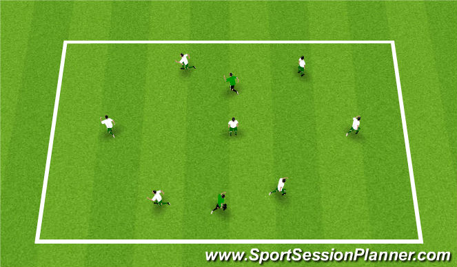 Football/Soccer Session Plan Drill (Colour): Warm-up: Large tag game