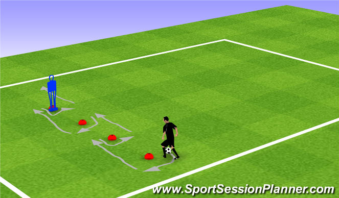 Football/Soccer Session Plan Drill (Colour): Warm up DBP