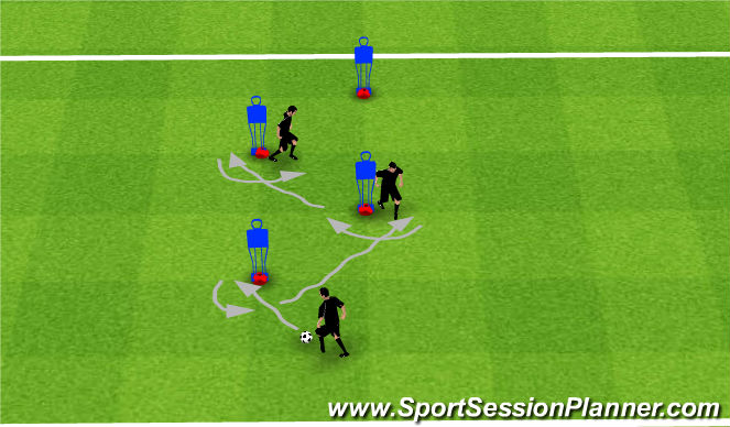 Football/Soccer Session Plan Drill (Colour): Warm down ITO