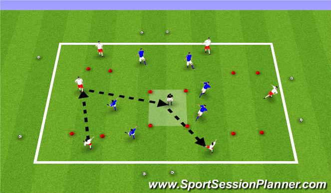 Football/Soccer Session Plan Drill (Colour): ODP U11-U12 9:00-10:00