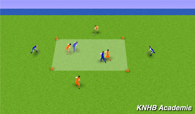Hockey Session Plan Drill (Colour): Kern 1