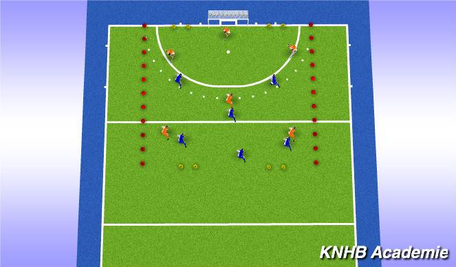 Hockey Session Plan Drill (Colour): Eind partij