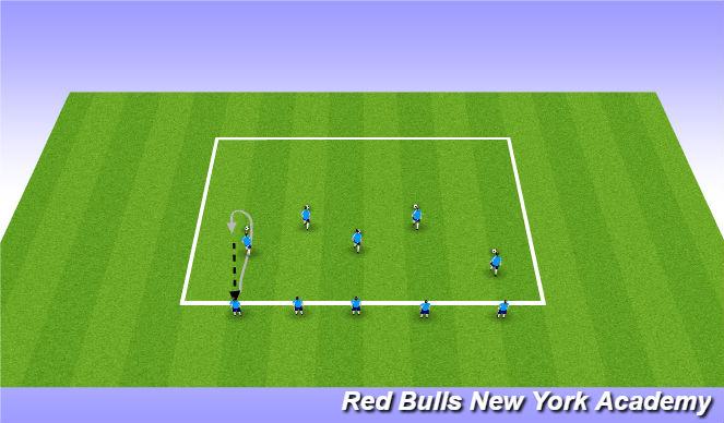 Football/Soccer Session Plan Drill (Colour): Skills Development
