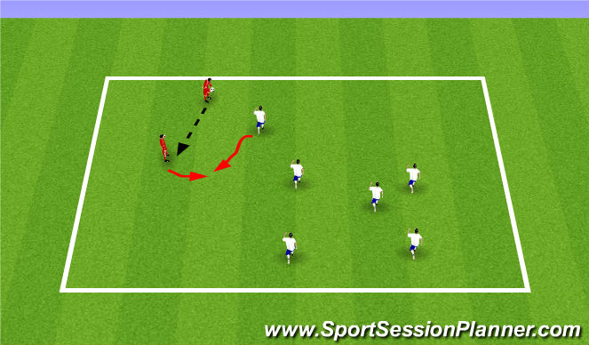 Football/Soccer Session Plan Drill (Colour): 2 Person Tag