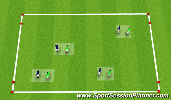 Football/Soccer Session Plan Drill (Colour): 4v4 to small goas