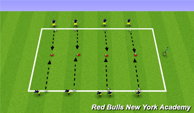 Football/Soccer Session Plan Drill (Colour): Main Theme Intro