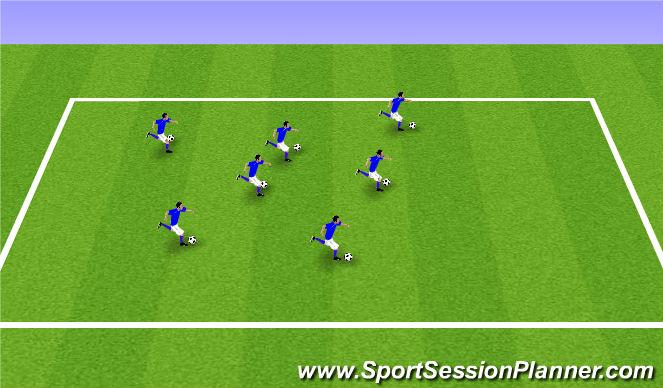 Football/Soccer Session Plan Drill (Colour): ODP U6-U8 7:00-8:00