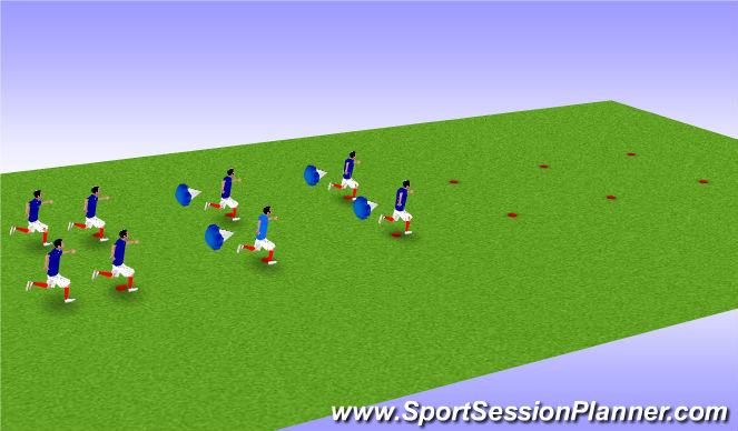 Football/Soccer Session Plan Drill (Colour): FIFA 11+