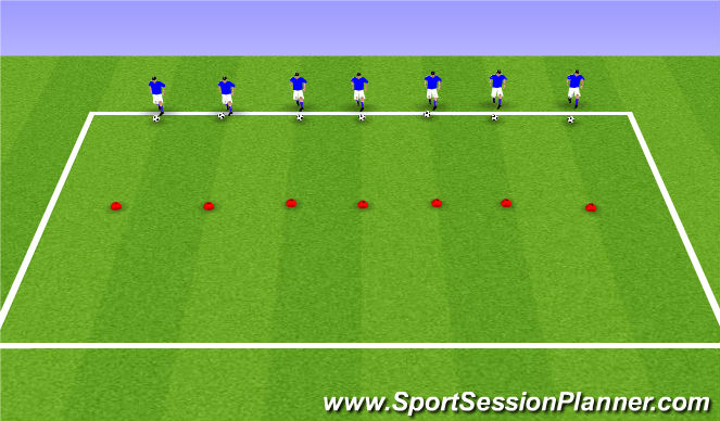 Football/Soccer Session Plan Drill (Colour): ODP U9-U10 8:00-9:00